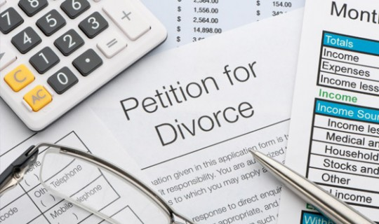 legal paperwork on divorce